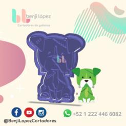 7.png Download STL file HALLOWEEN FRANKENSTEIN DOG COOKIE CUTTER - CORTADOR DE GALLETAS PERRO FRANKENSTEIN • Object to 3D print, BenjiLopezCortadores