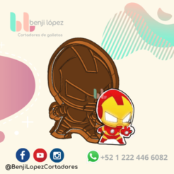 26.png Download STL file Avenger IronMan Cookie Cutter • 3D printable template, BenjiLopezCortadores