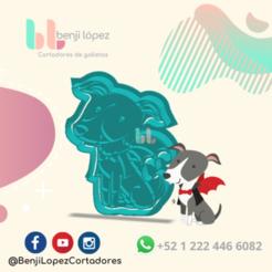 8.png Télécharger fichier STL L'EMPORTE-PIÈCE DU CHIEN VAMPIRE D'HALLOWEEN • Design imprimable en 3D, BenjiLopezCortadores