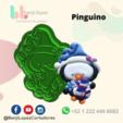 BenjiLopezCortadores (16).png Download STL file CHRISTMAS PENGUIN COOKIE CUTTER • Design to 3D print, BenjiLopezCortadores