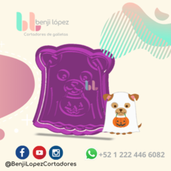 11.png Download STL file HALLOWEEN GHOST DOG COOKIE CUTTER • Object to 3D print, BenjiLopezCortadores
