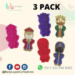 21.png Télécharger fichier STL 3 PACK CHRISTMAS KING NATIVITY COOKIE CUTTER/ 3 Pack KING MAGO CHRISTMAS CUTTER • Design pour imprimante 3D, BenjiLopezCortadores
