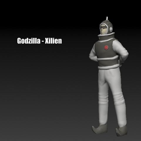Télécharger STL Godzilla - Xilien / Planet X Person, LittleFriend