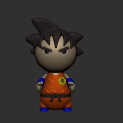 Télécharger plan imprimante 3D Goku (Version Chibi), LittleFriend