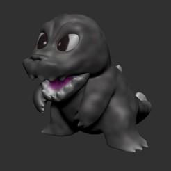 Download STL files Chibi Godzilla, LittleFriend