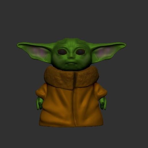 Download 3D printing designs Baby Yoda, LittleFriend