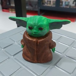 20191204_195617.jpg Download STL file Baby Yoda Coinbank • 3D printable design, LittleFriend