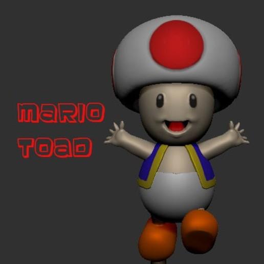 Download STL files Super Mario Toad, LittleFriend