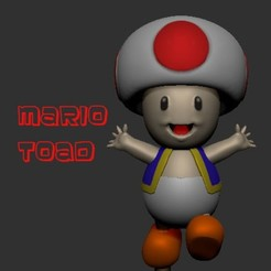 Descargar diseños 3D Súper Mario Toad, LittleFriend
