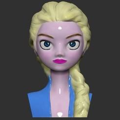 1.jpg Descargar archivo STL Congelado 2 Elsa Busto y Banco de monedas • Objeto para impresión 3D, LittleFriend