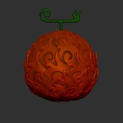 DF.jpg Download STL file One Piece Devil fruit Mera Mera No Mi ( ACE ) • 3D printer model, LittleFriend