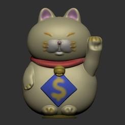 1.jpg Télécharger fichier STL Banque de pièces et figurine de chat de la fortune • Plan pour impression 3D, LittleFriend