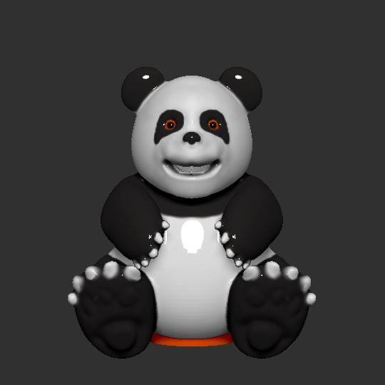 front.jpg Télécharger fichier STL gratuit Banque de pièces de monnaie Panda • Plan pour impression 3D, LittleFriend