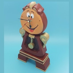 Download 3D printing models Cogsworth Clock Holder, LittleFriend