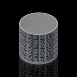 Mockup.png Download STL file Dual Colour Detailed Plant Pot • 3D print model, AdamM