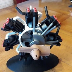Télécharger modèle 3D gratuit Moteur radial imprimable, vocaton