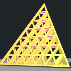 Download 3D printing templates 3D Triangle Pyramid Structure, Trunkey