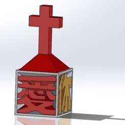 Download 3D printing designs Jesus love you ( in Chinese) 耶穌愛你小桌飾, Trunkey
