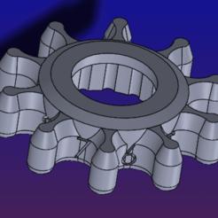 Télécharger fichier imprimante 3D gratuit Bouton de mise à niveau CR-10S5 熱床調整鈕輔助塊, Trunkey