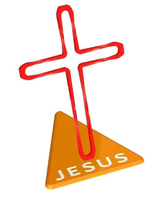 Twisted_Cross_Name.jpg Télécharger fichier STL gratuit Trunkey創吉藝 光影十字架 光影十字架 STAND TWISTED CROSS (Jesus Christ) • Design à imprimer en 3D, Trunkey