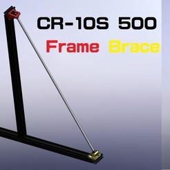 Download 3D printing designs 創吉藝Trunkey CR-10S5 Frame Brace 龍門框補強架, Trunkey