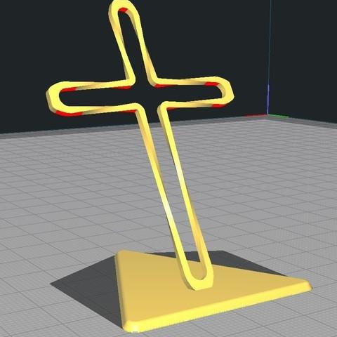 Télécharger fichier impression 3D gratuit Trunkey創吉藝 光影十字架 光影十字架 STAND TWISTED CROSS (Jesus Christ), Trunkey