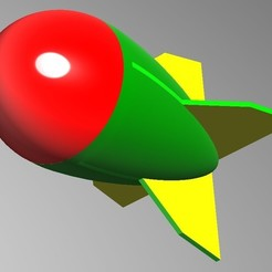 missle01.jpg Télécharger fichier STL gratuit Trunkey 創吉藝 Missile 味噌 みそ みそ 火箭玩具 Jouet grenade fusée • Modèle pour impression 3D, Trunkey