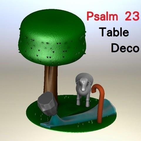 Descargar STL Salmo23 詩篇23章 Table Decor 情境小擺飾, Trunkey