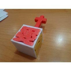 Modelos 3D Jesús te ama ( en chino) 耶穌愛你小桌飾, Trunkey