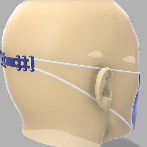 Descargar Modelos 3D para imprimir gratis Soporte cabeza mascarillas faciales, lifvit