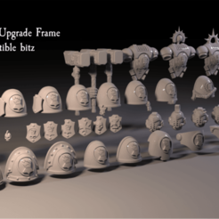 IF_Preview2.png Download free STL file Imperial Fists Upgrade Frame • Object to 3D print, UtDicitur