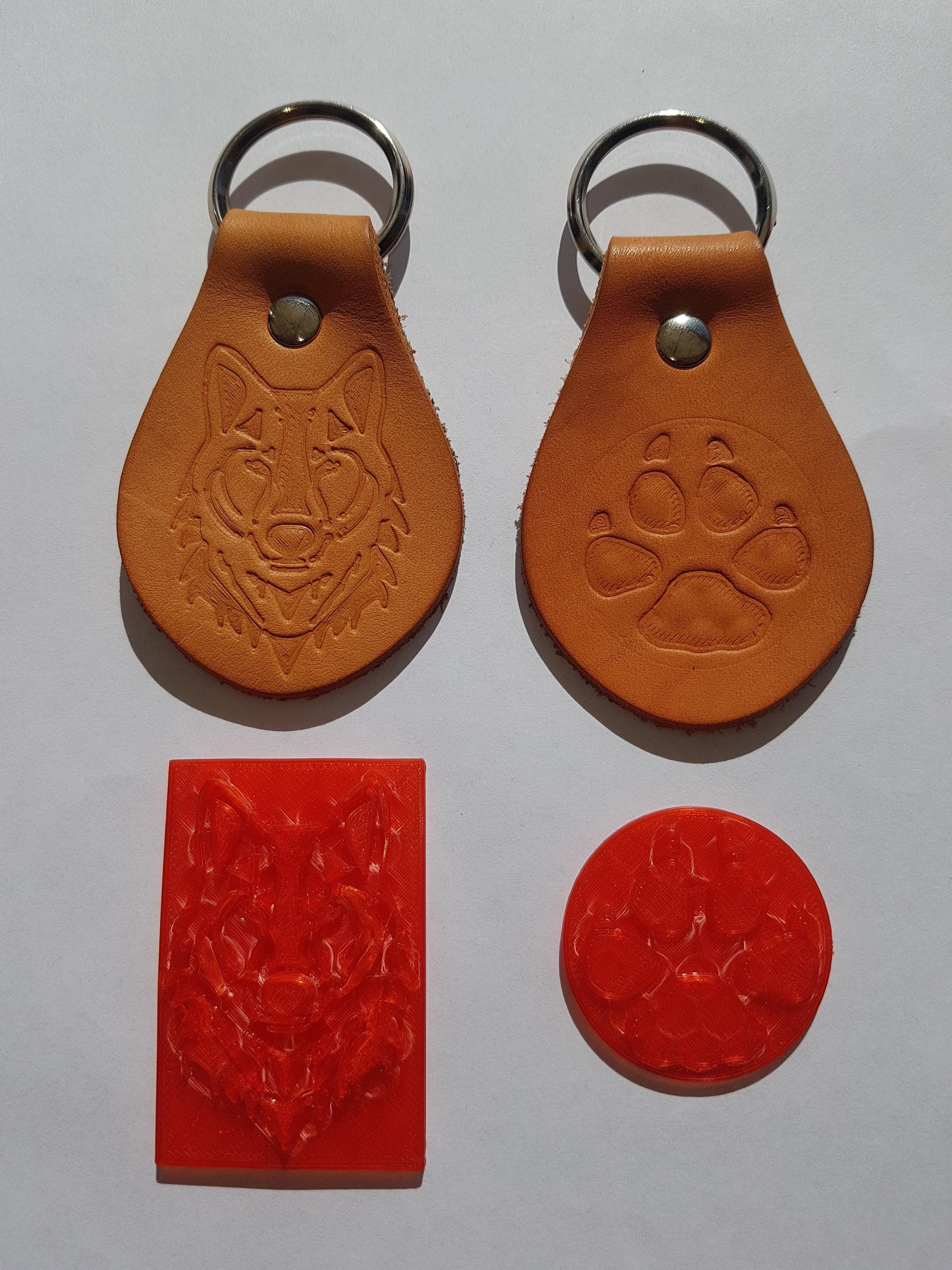 20190330_112336.jpg Download STL file  Wolf Leather Stamp • 3D print template, WJDesign