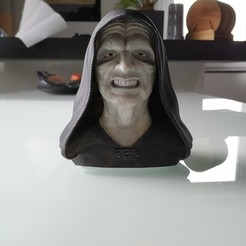 2.jpg Download OBJ file Palpatine (Darth Sidious) Bust • 3D printing template, arric