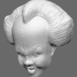 Download free OBJ file Pennywise Bust • 3D printable design, arric