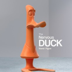 Free 3D printer model The Nervous Duck, Randy_Z