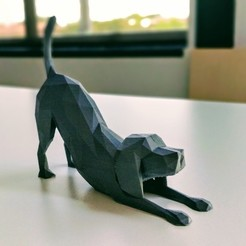 Download free STL files Polygonal Dog, Randy_Z