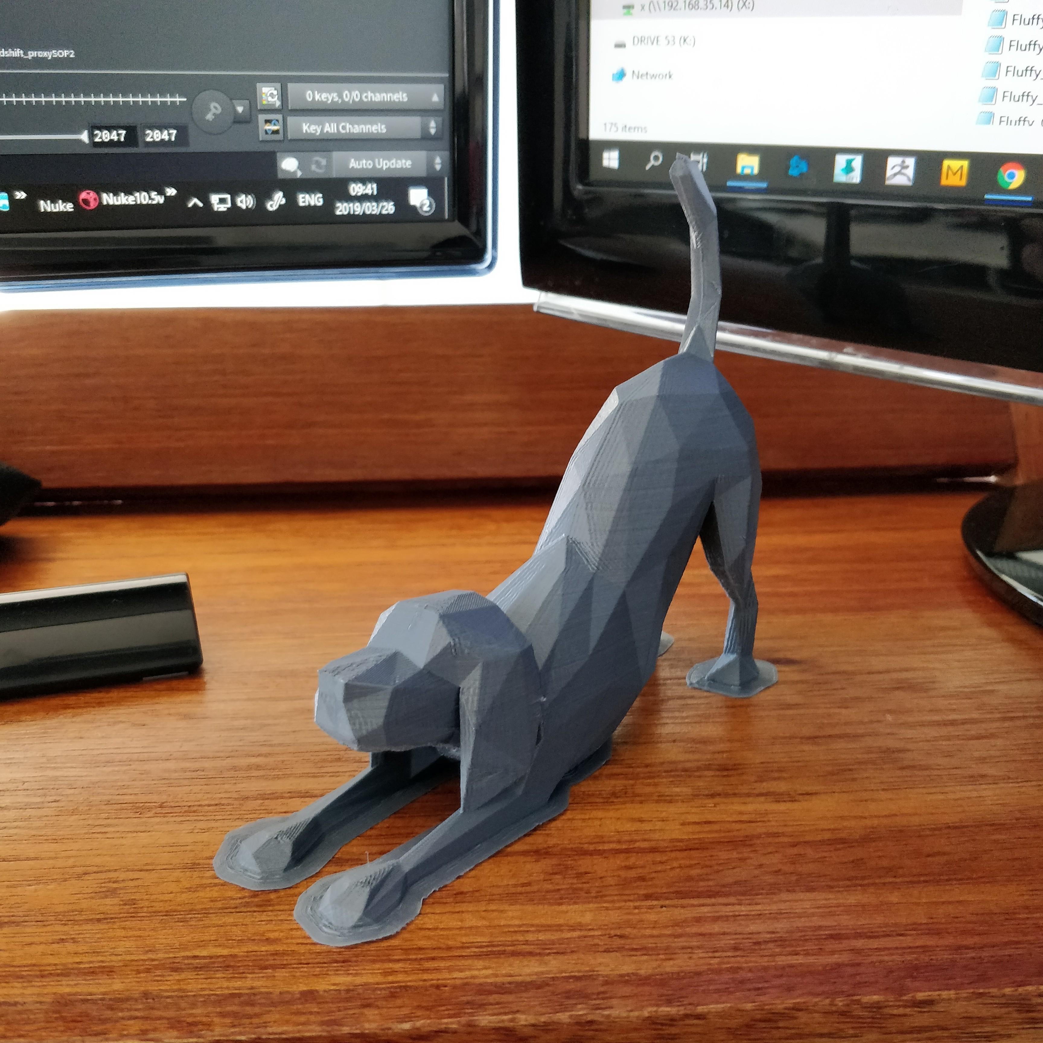 low_poly_dog_brim.jpg Télécharger fichier STL gratuit Chien Polygonal • Objet pour impression 3D, Randy_Z