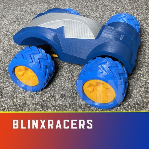Download 3D printing templates Blinxracers r2020 Toy Cars, IR_Blinx