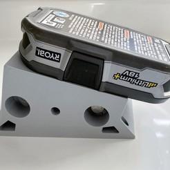 Descargar diseños 3D gratis Soporte de Batería Ryobi, IR_Blinx