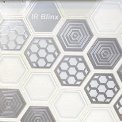 Download free 3D printing designs Hex Wall Curtain, IR_Blinx