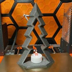 tealight1.jpeg Télécharger fichier STL gratuit Porte-bougie d'arbre de Noël moderne • Modèle à imprimer en 3D, IR_Blinx