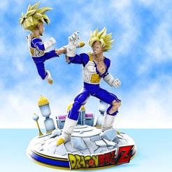 Descargar diseños 3D Goku vs Gohan training at hyperbolic time chamber diorama 3D print model, chris_guicha
