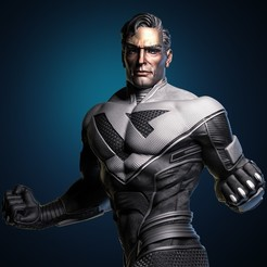 3.jpg Download STL file Superman Beyond fan art 3D print model • 3D print design, chris_guicha
