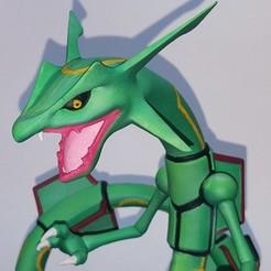 STL Pokemon Rayquaza for 3D print, chris_guicha