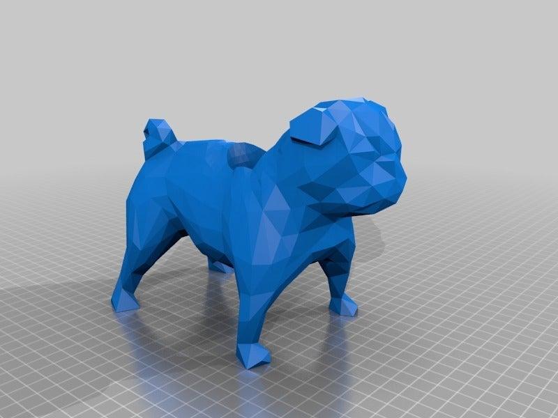 a653cbbd341417f0e5a2e37024116917.png Download free STL file Low Poly Pug Pot / Pen Holder • Design to 3D print, hyliancoder