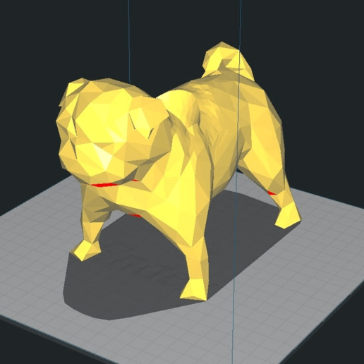 Screen_Shot_2019-05-17_at_6.48.58_PM.png Download free STL file Low Poly Pug Pot / Pen Holder • Design to 3D print, hyliancoder