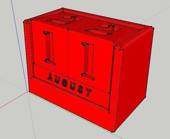 RenderView_display_large.jpg Download free STL file Analog Calendar • 3D print model, Jeyill3