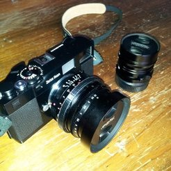 Free STL files Focus ring (w/tab) for Nokton 50mm f1.1, Jeyill3