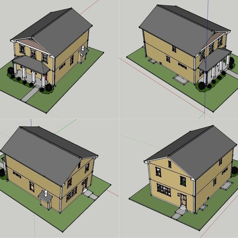 Rendered_Full_display_large_display_large.jpg Download free STL file Two-Story Spec House • Object to 3D print, Jeyill3