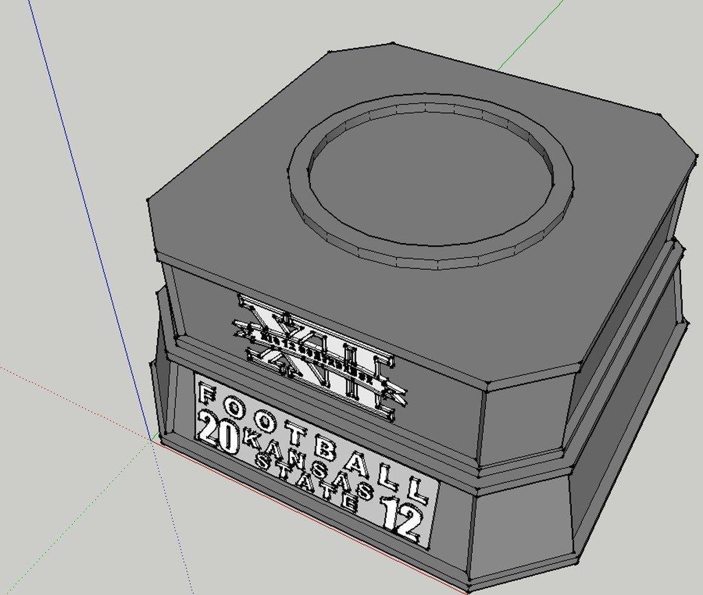 Big12_Trophy_Base_display_large.jpg Télécharger fichier STL gratuit Trophée Big 12 • Modèle à imprimer en 3D, Jeyill3